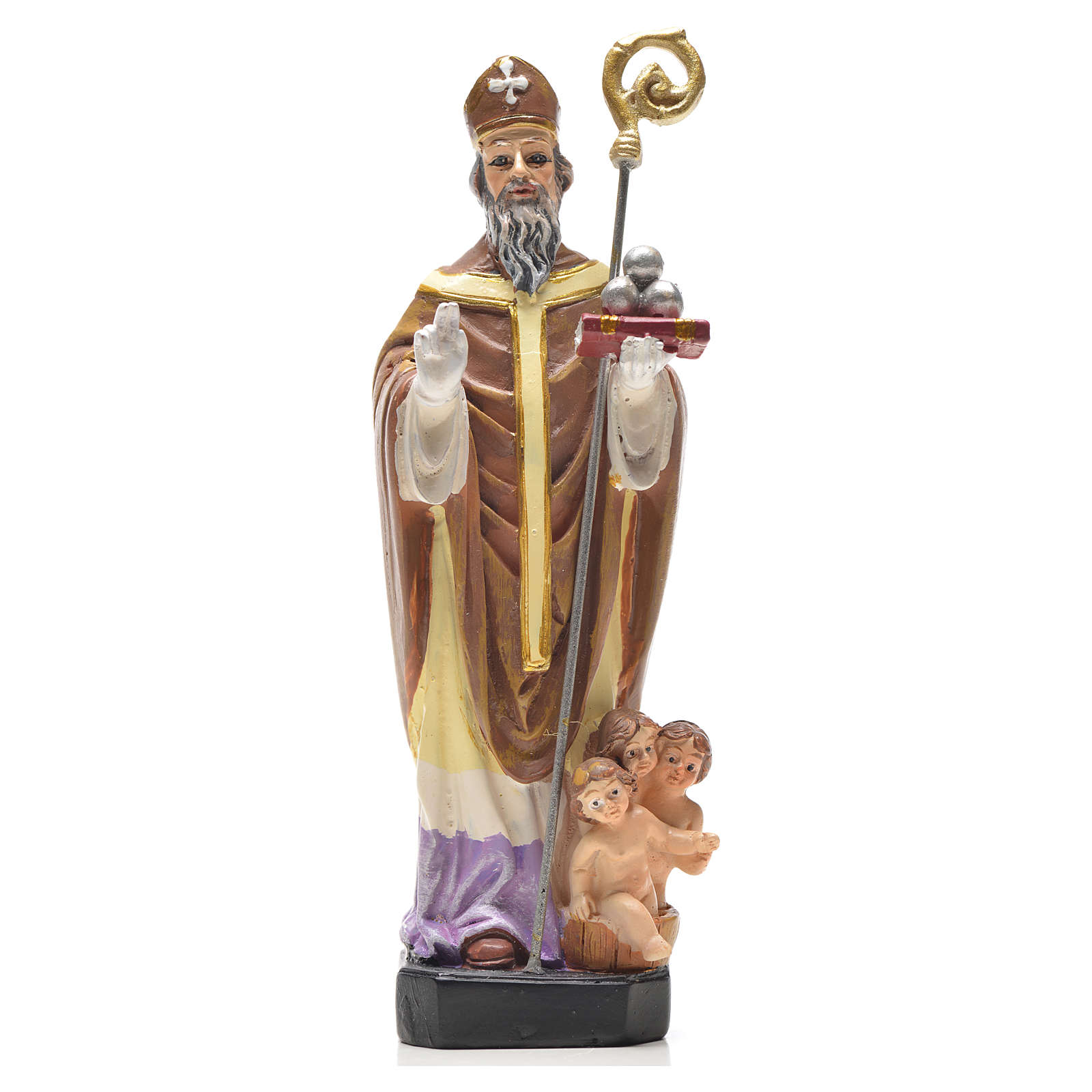 Saint Nicholas 12cm with French prayer 4