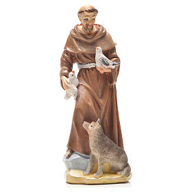 Resin & PVC statues: Saint Francis of Assisi 12cm with Italian prayer