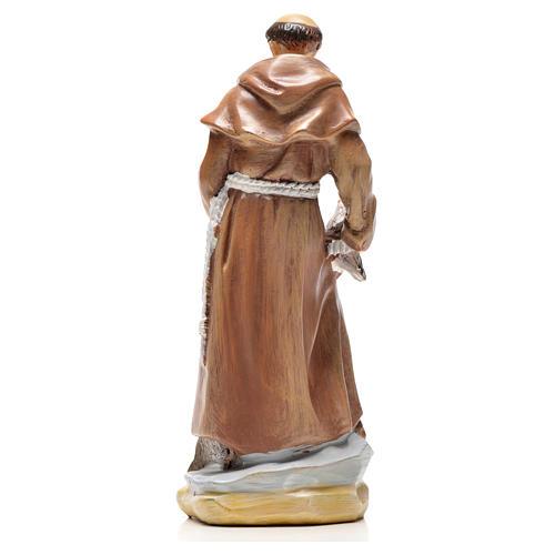 San Francesco d'Assisi 12 cm con immaginetta PREGHIERA SPAGNOLO 2