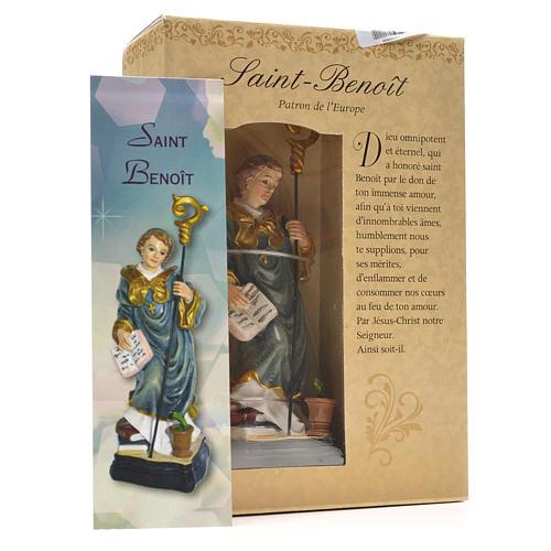 Saint Benoit 12cm image et prière en Français 3
