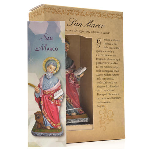 San Marcos 12cm con imagen y oración en Italiano 3