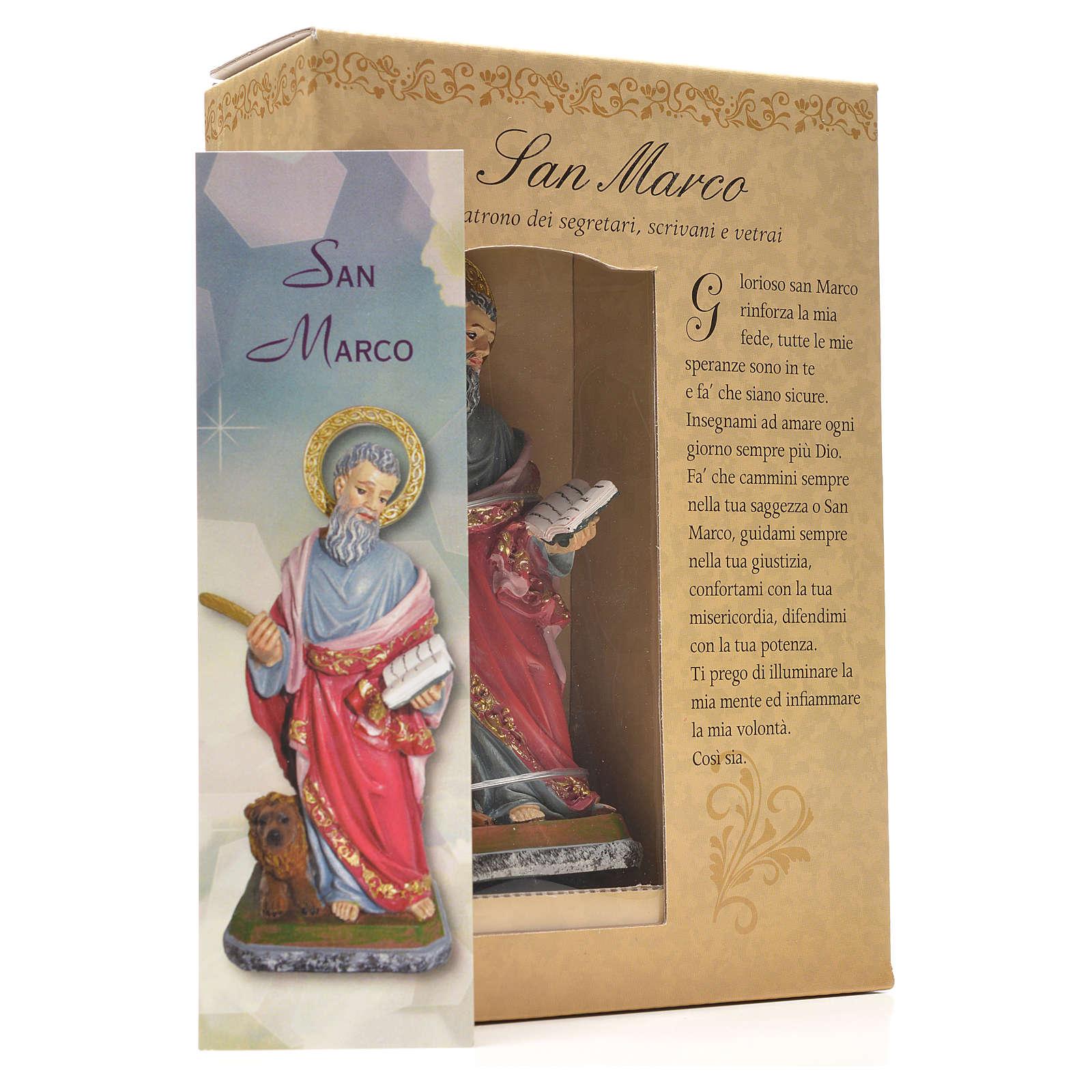 Saint Marc 12cm image et prière en Italien 4