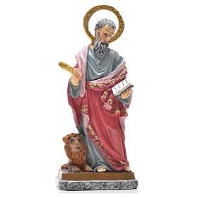 Figury z żywicy: Figurka święty Marek z obrazkiem z modlitwą po włosku