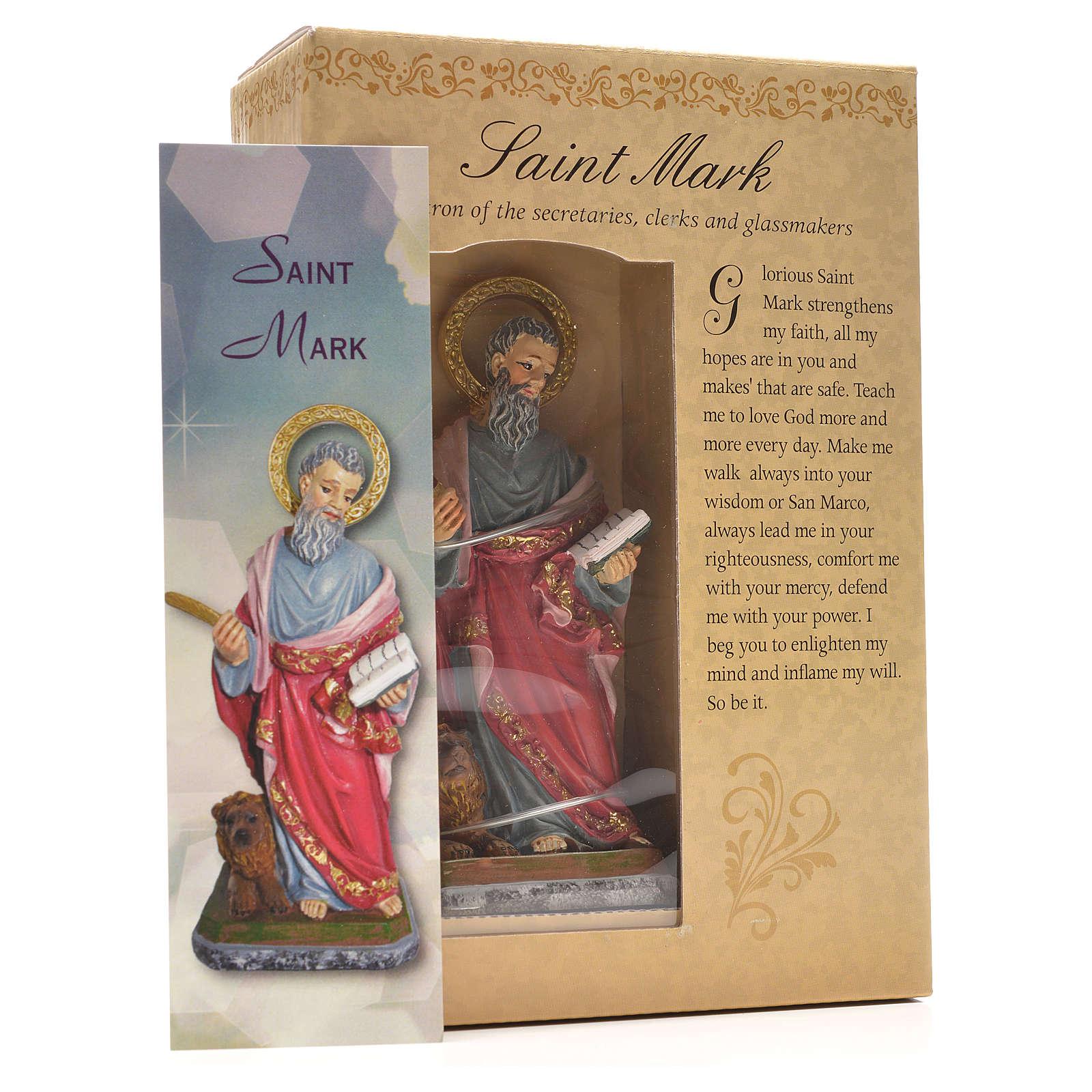Saint Marc 12cm image et prière en Anglais 4