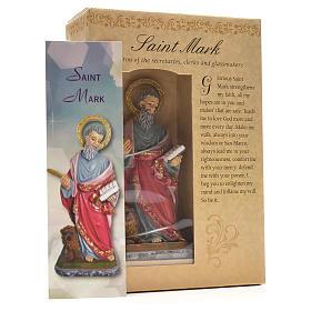 Saint Marc 12cm image et prière en Anglais s3