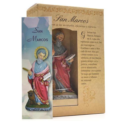 Saint Marc 12cm image et prière en Espagnol 3