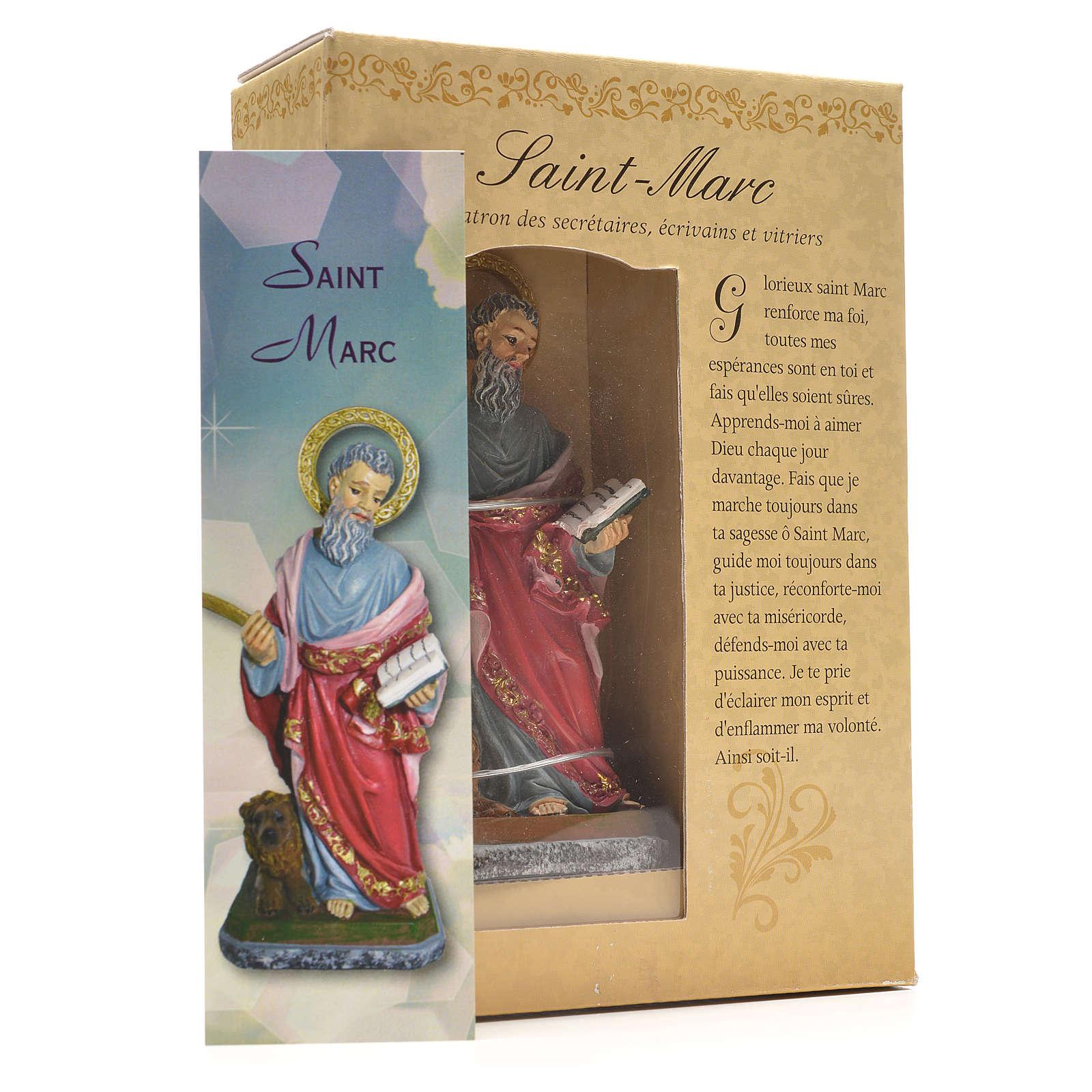 San Marcos 12cm con imagen y oración en Francés 4