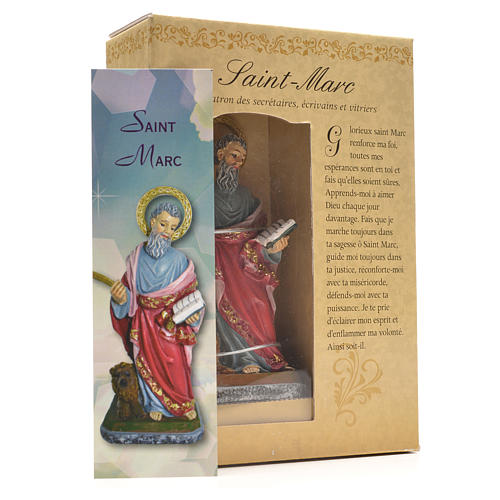 San Marcos 12cm con imagen y oración en Francés 3