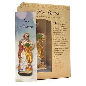 Saint Mathieu 12cm image et prière en Italien s3