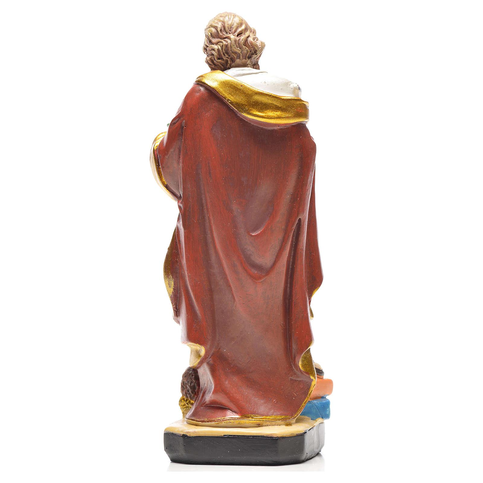 Figurka święty Mateusz z obrazkiem z modlitwą po francusku 4