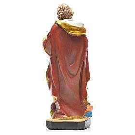 Figurka święty Mateusz z obrazkiem z modlitwą po francusku s2