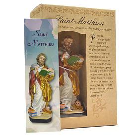 Figurka święty Mateusz z obrazkiem z modlitwą po francusku s3
