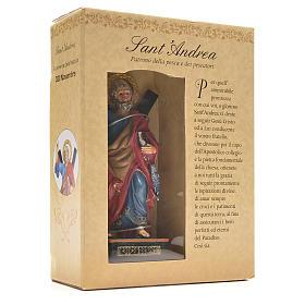 Sant'Andrea 12 cm con immaginetta PREGHIERA ITALIANO s3