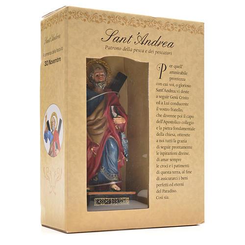 Sant'Andrea 12 cm con immaginetta PREGHIERA ITALIANO 3
