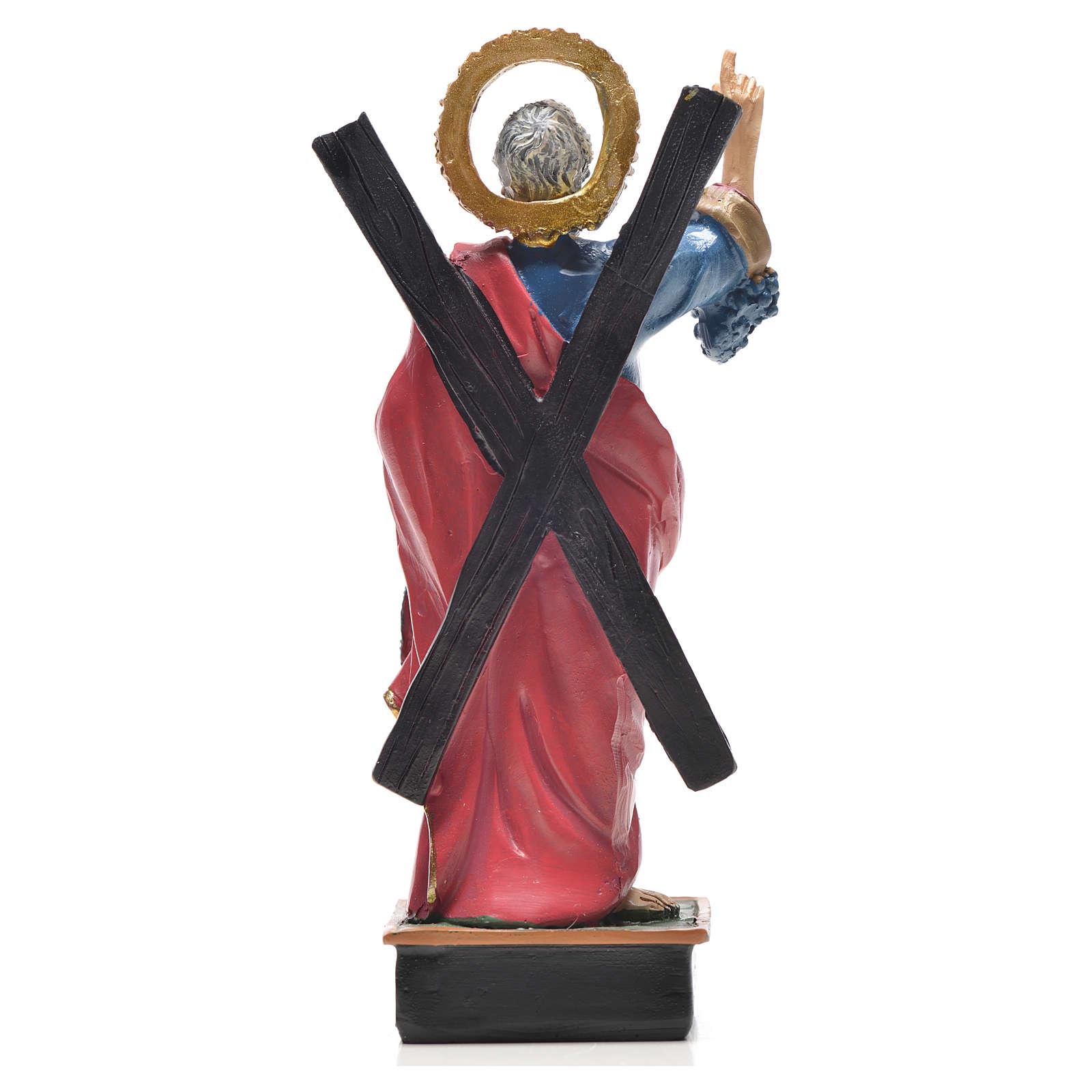 Sant'Andrea 12 cm con immaginetta PREGHIERA FRANCESE 4