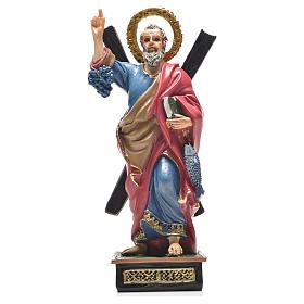 Sant'Andrea 12 cm con immaginetta PREGHIERA FRANCESE s1