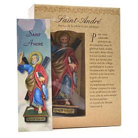 Sant'Andrea 12 cm con immaginetta PREGHIERA FRANCESE s3