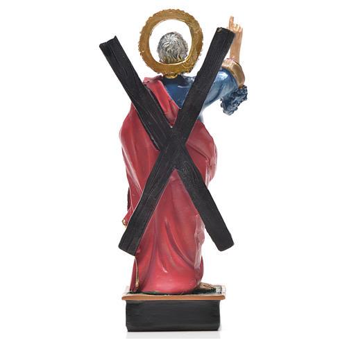 Sant'Andrea 12 cm con immaginetta PREGHIERA FRANCESE 2