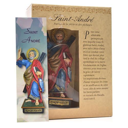 Sant'Andrea 12 cm con immaginetta PREGHIERA FRANCESE 3