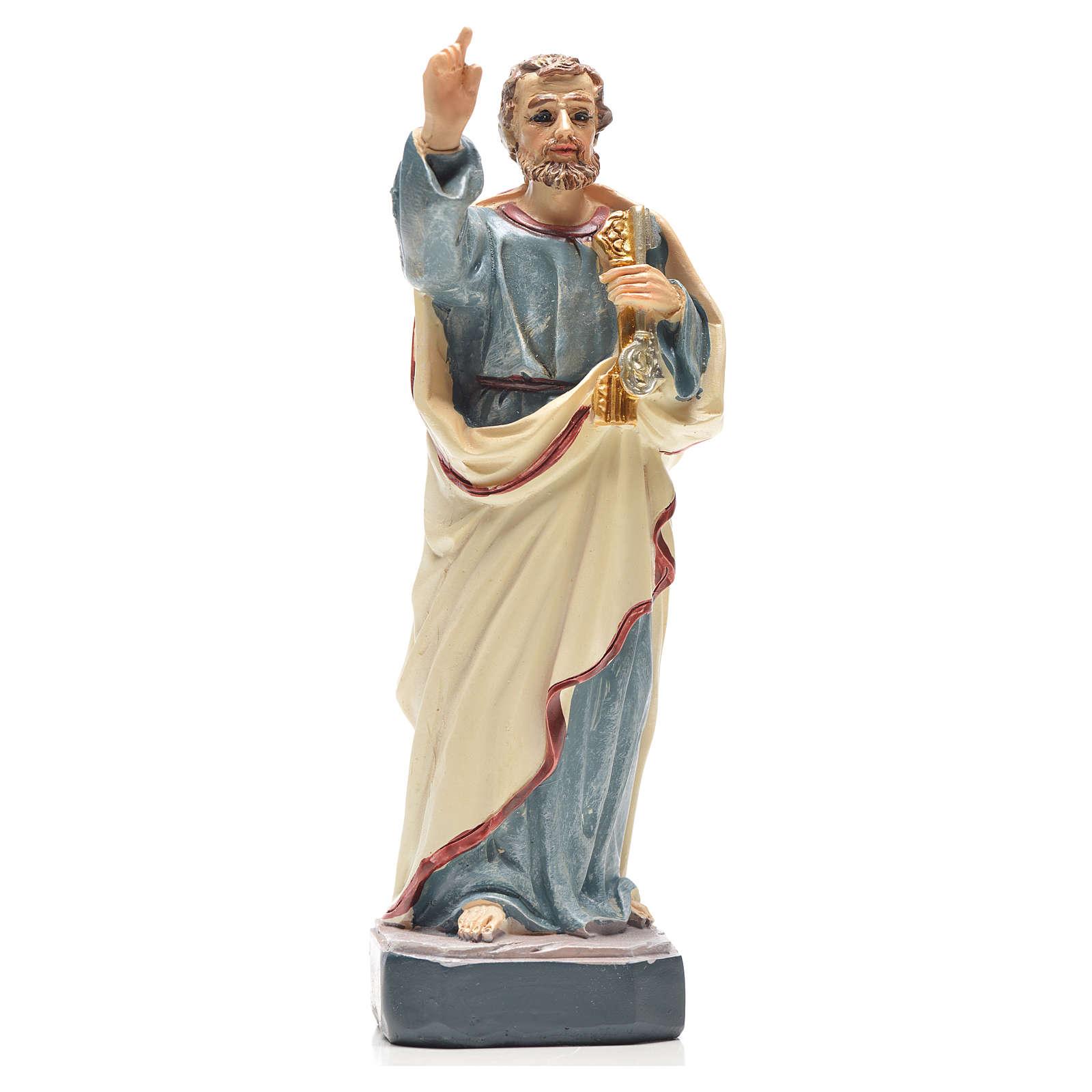 San Pedro 12cm con imagen y oración en Italiano 4