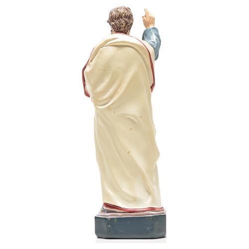 San Pedro 12cm con imagen y oración en Francés 2