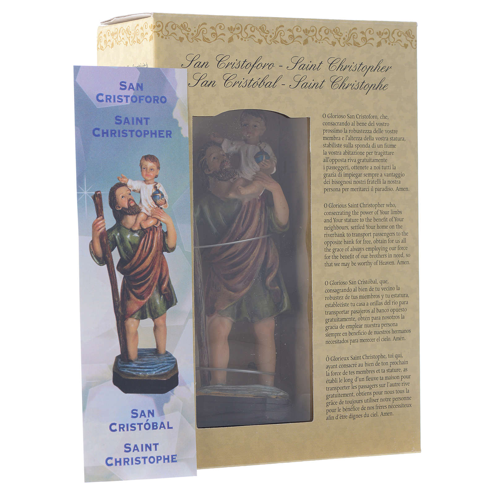 Saint Christopher 12cm Multilingual prayer 4