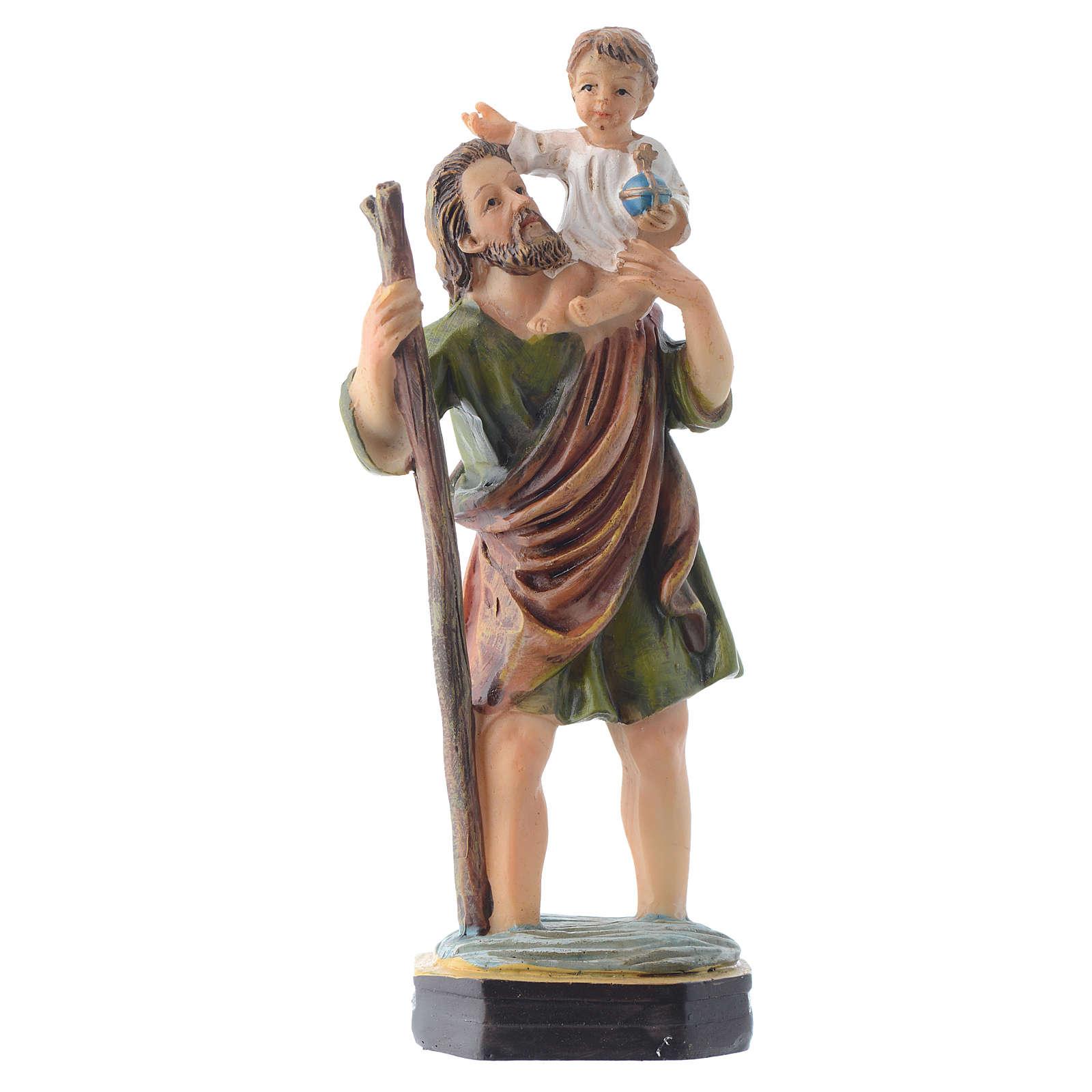 San Cristoforo da 12 cm pvc confezione PREGHIERA MULTILINGUA 4