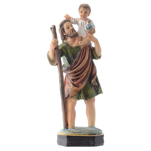 San Cristoforo da 12 cm pvc confezione PREGHIERA MULTILINGUA 1