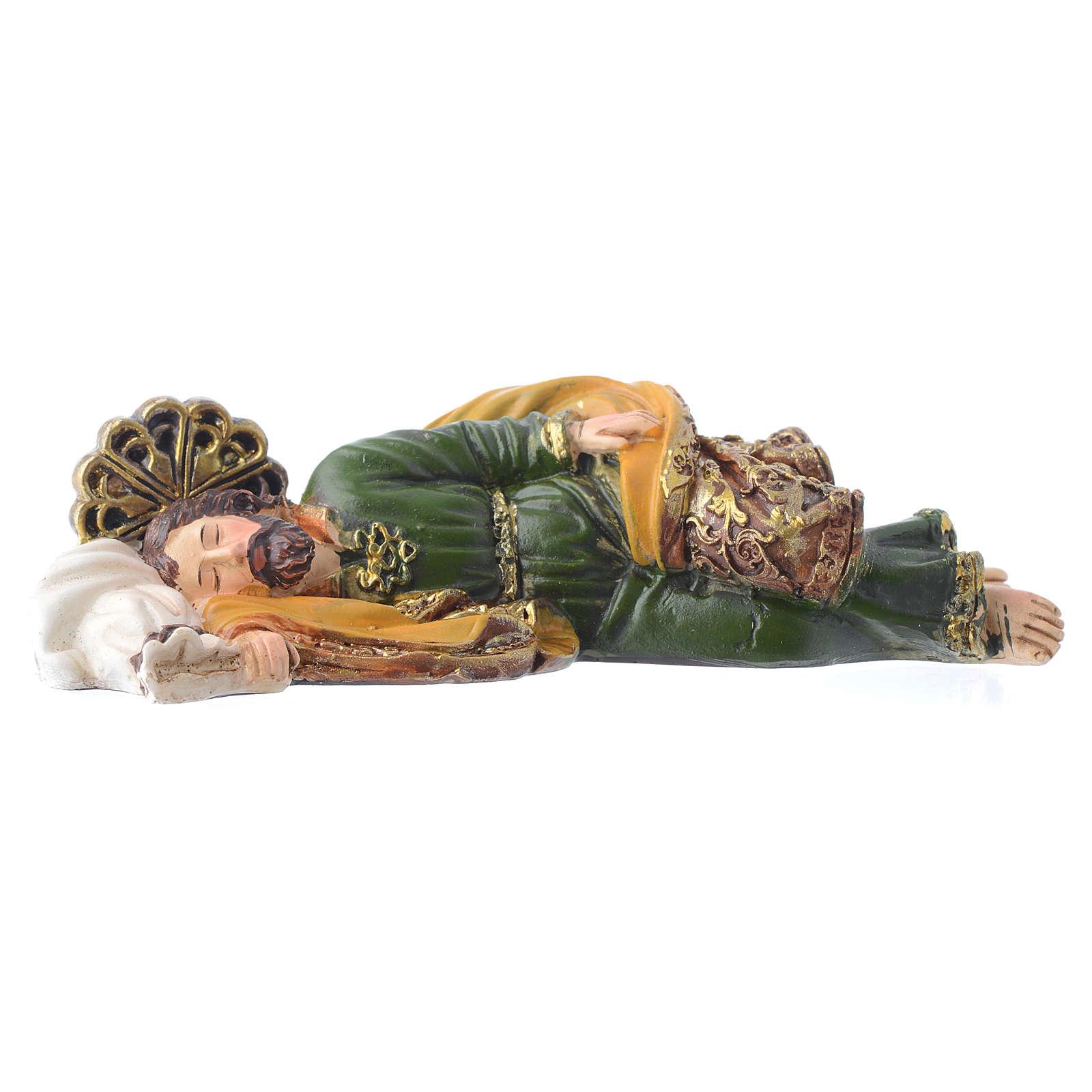 Sleeping Saint Joseph statue 12cm GIFT BOX Multilingual prayer 4
