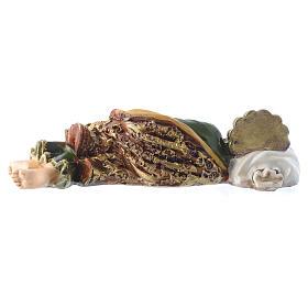 Saint Joseph endormi 12 cm pvc en boite cadeau PRIÈRE MULTILINGUE s2