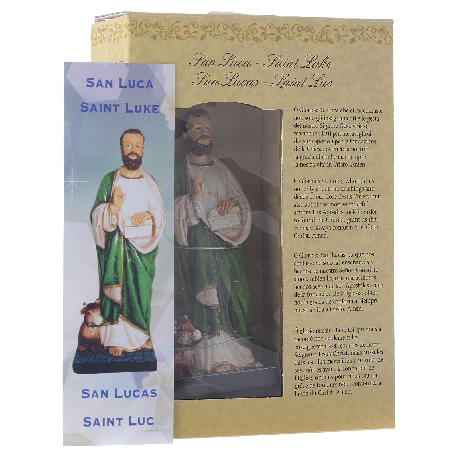 Saint Luke 12cm Multilingual prayer 4