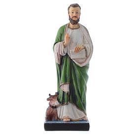 Saint Luc endormi 12 cm pvc PRIÈRE MULTILINGUE s1