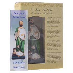 Saint Luc endormi 12 cm pvc PRIÈRE MULTILINGUE s3