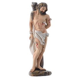 Statues en résine et PVC: Saint Sébastien 12 cm pvc PRIÈRE MULTILINGUE