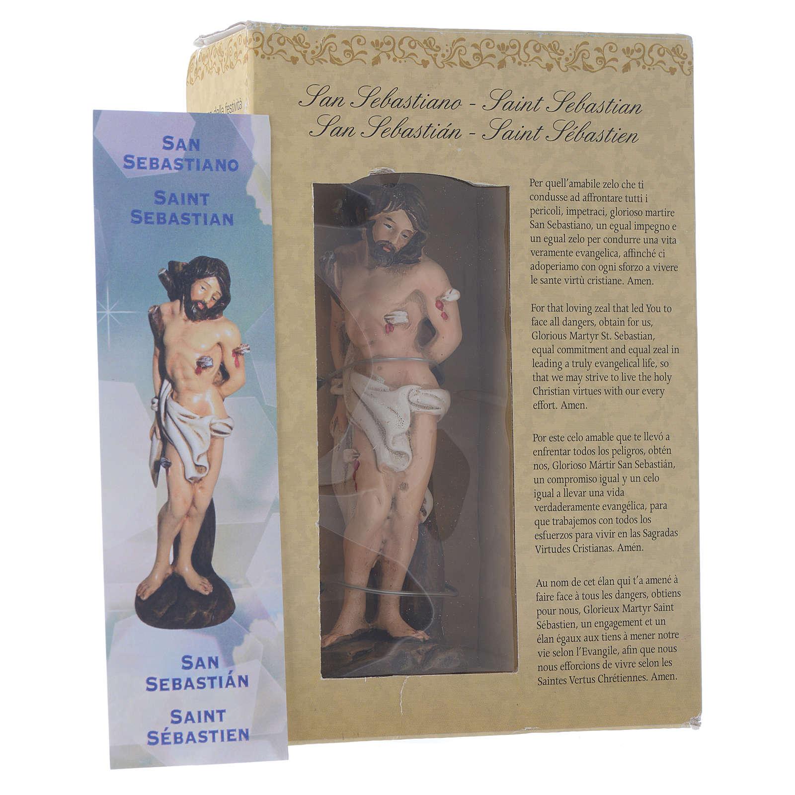 San Sebastiano 12 cm pvc confezione PREGHIERA MULTILINGUE 4