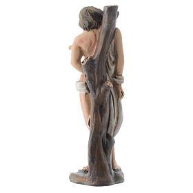 San Sebastiano 12 cm pvc confezione PREGHIERA MULTILINGUE s2