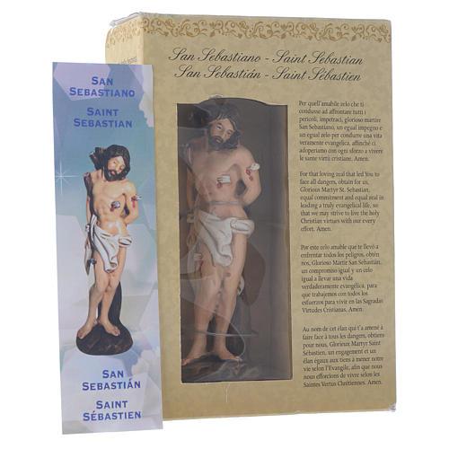 San Sebastiano 12 cm pvc confezione PREGHIERA MULTILINGUE 3