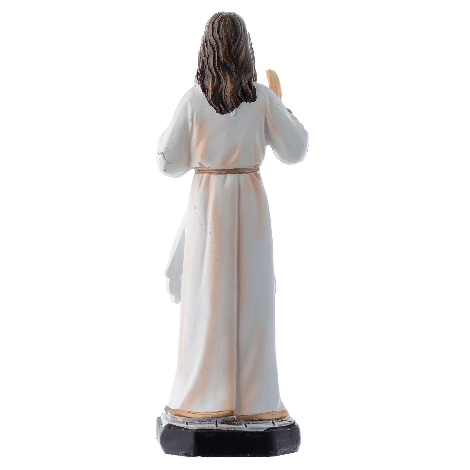 Gesù Misericordioso 12 cm pvc confezione PREGHIERA MULTILINGUE 4