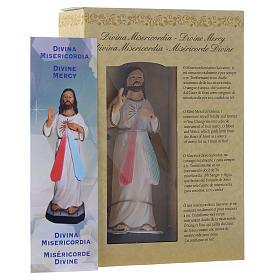 Cristo Misericordioso 12 cm pvc caixa ORAÇÃO MULTILINGUE s3