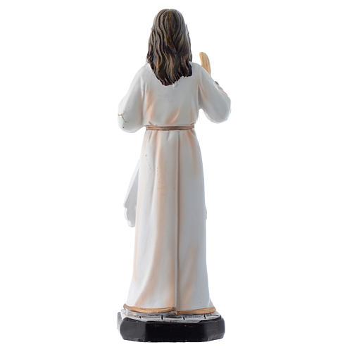 Cristo Misericordioso 12 cm pvc caixa ORAÇÃO MULTILINGUE 2