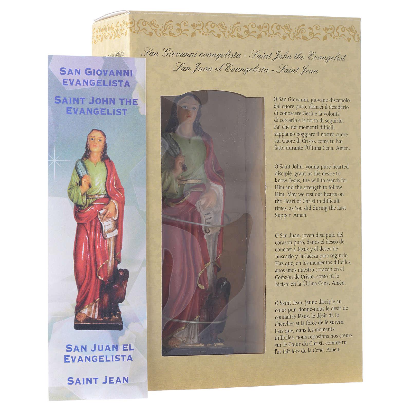 San Giovanni Evangelista 12 cm pvc confezione PREGHIERA MULTILINGUE 4