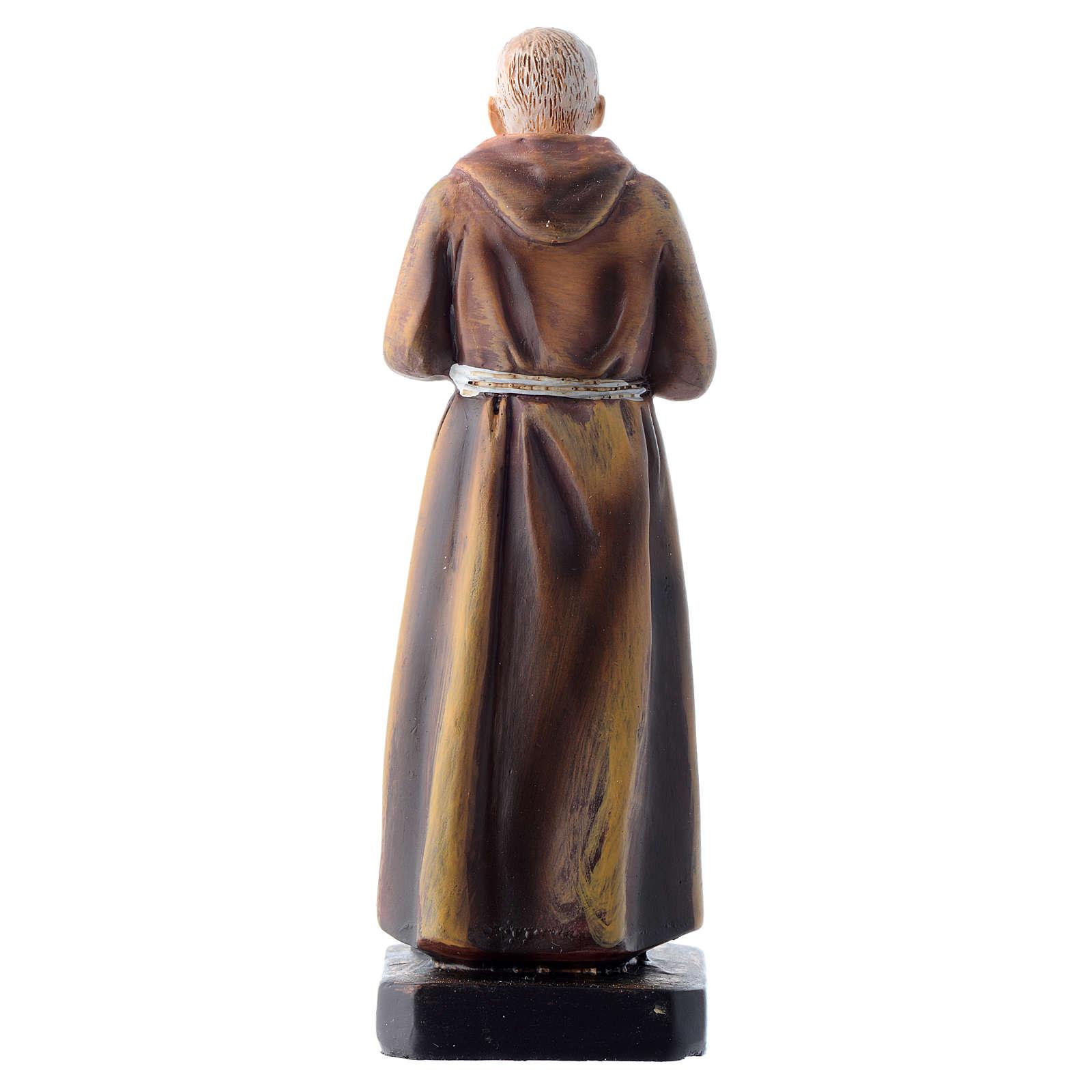 Saint Pio statue 12cm Multilingual prayer 4