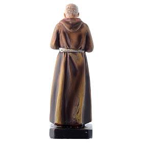 Saint Pio statue 12cm Multilingual prayer s2