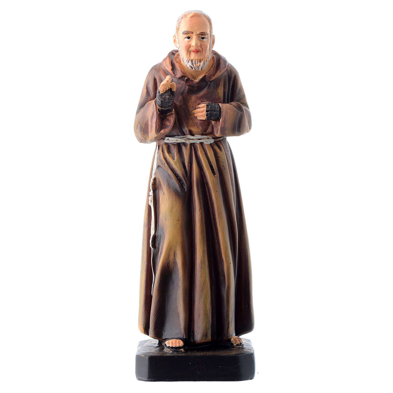 Saint Pio statue 12cm Multilingual prayer 4