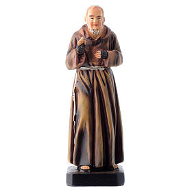 Saint Pio statue 12cm Multilingual prayer s1