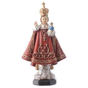 Imagens em Resina e PVC: Menino Jesus de Praga 12 cm pvc caixa ORAÇÃO MULTILINGUE