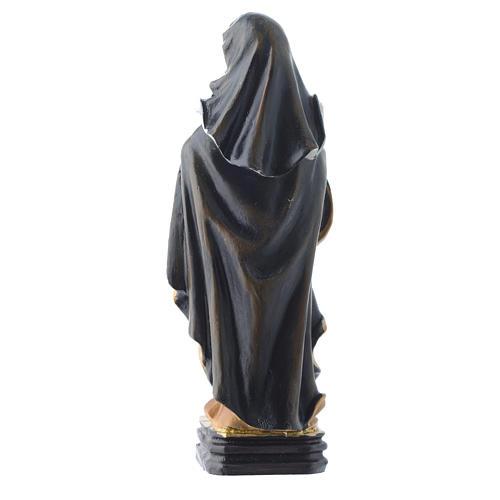 Saint Clare statue 12cm Multilingual prayer 2