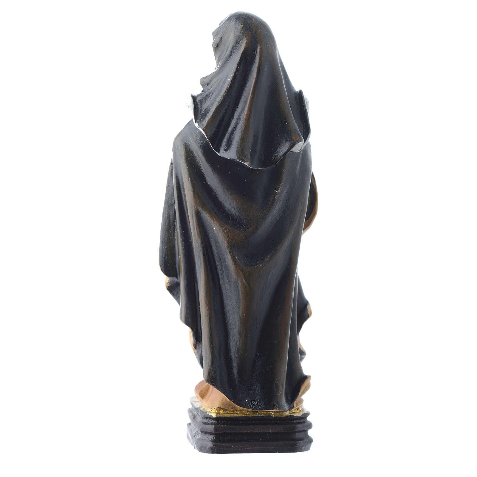 Saint Clare statue 12cm Multilingual prayer 4