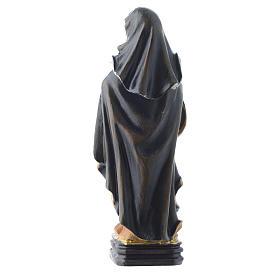 Saint Clare statue 12cm Multilingual prayer s2