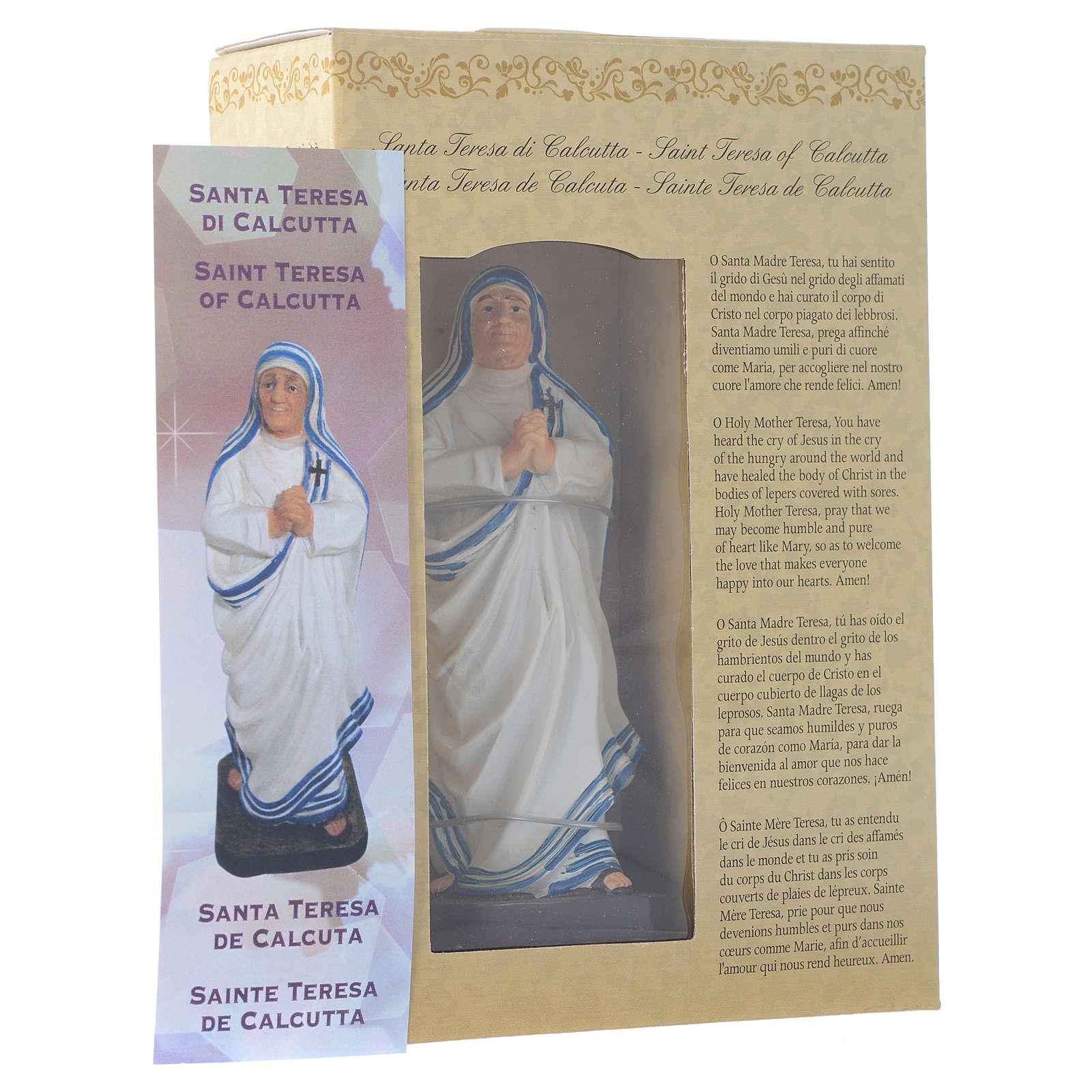 Madre Teresa di Calcutta 12 cm pvc confezione PREGHIERA MULTILINGUE 4